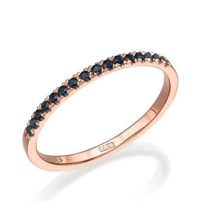 Mika Black Diamond Ring